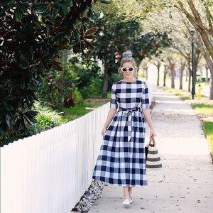 Dresses - Gingham Midi Dress